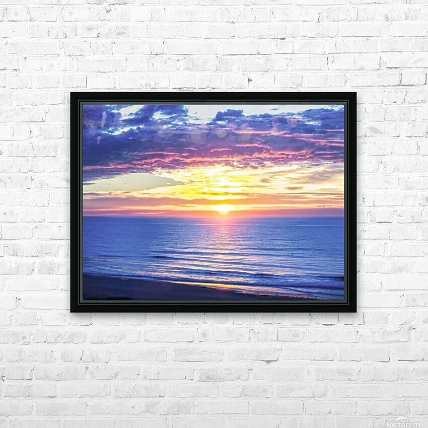Sunrise over the Atlantic HD Sublimation Metal print with Decorating Float Frame (BOX)