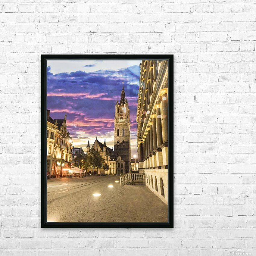 Sunset in Belgium HD Sublimation Metal print with Decorating Float Frame (BOX)