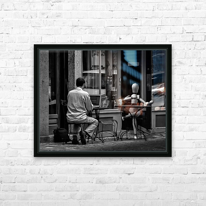 Coffee At The Sidewalk Cafe HD Sublimation Metal print with Decorating Float Frame (BOX)