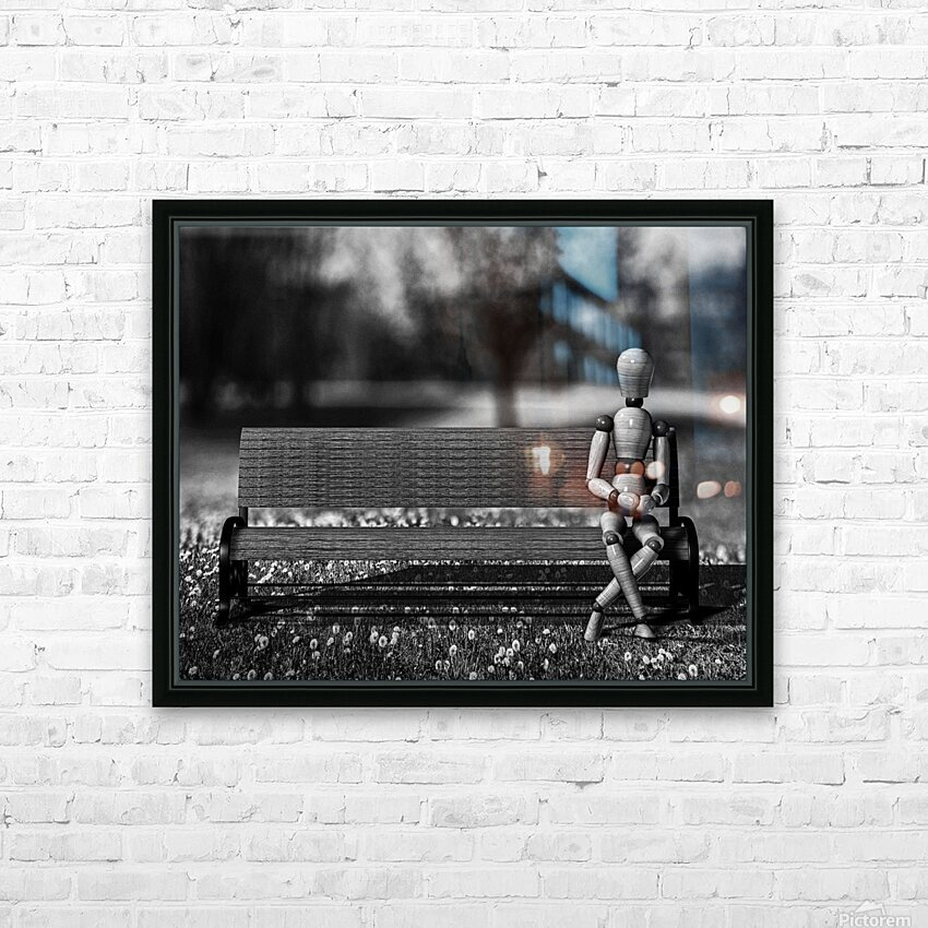 Waiting For The Taxi HD Sublimation Metal print with Decorating Float Frame (BOX)