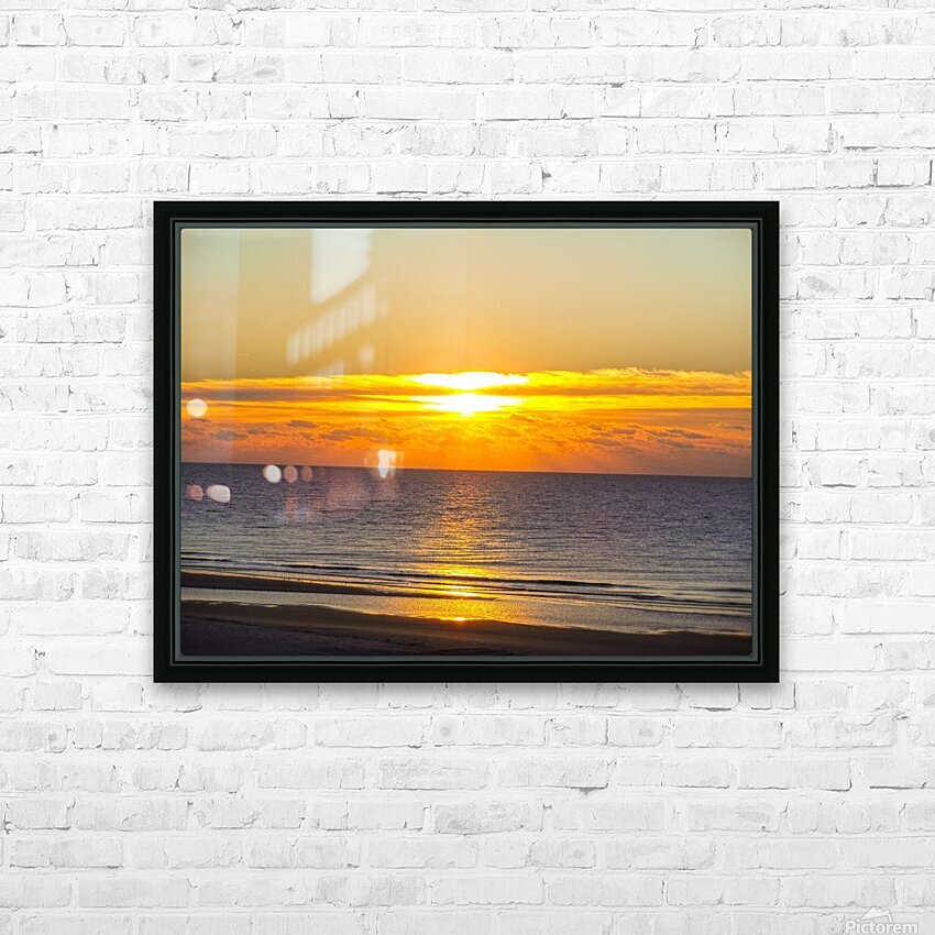 Blue Morning Sunrise HD Sublimation Metal print with Decorating Float Frame (BOX)