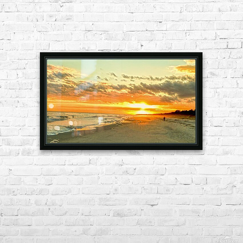 The Carolina Sunset HD Sublimation Metal print with Decorating Float Frame (BOX)
