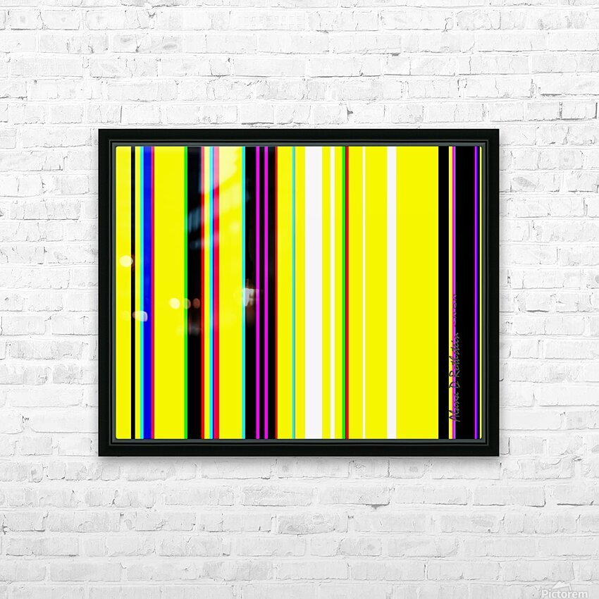 Color Bars 2 HD Sublimation Metal print with Decorating Float Frame (BOX)