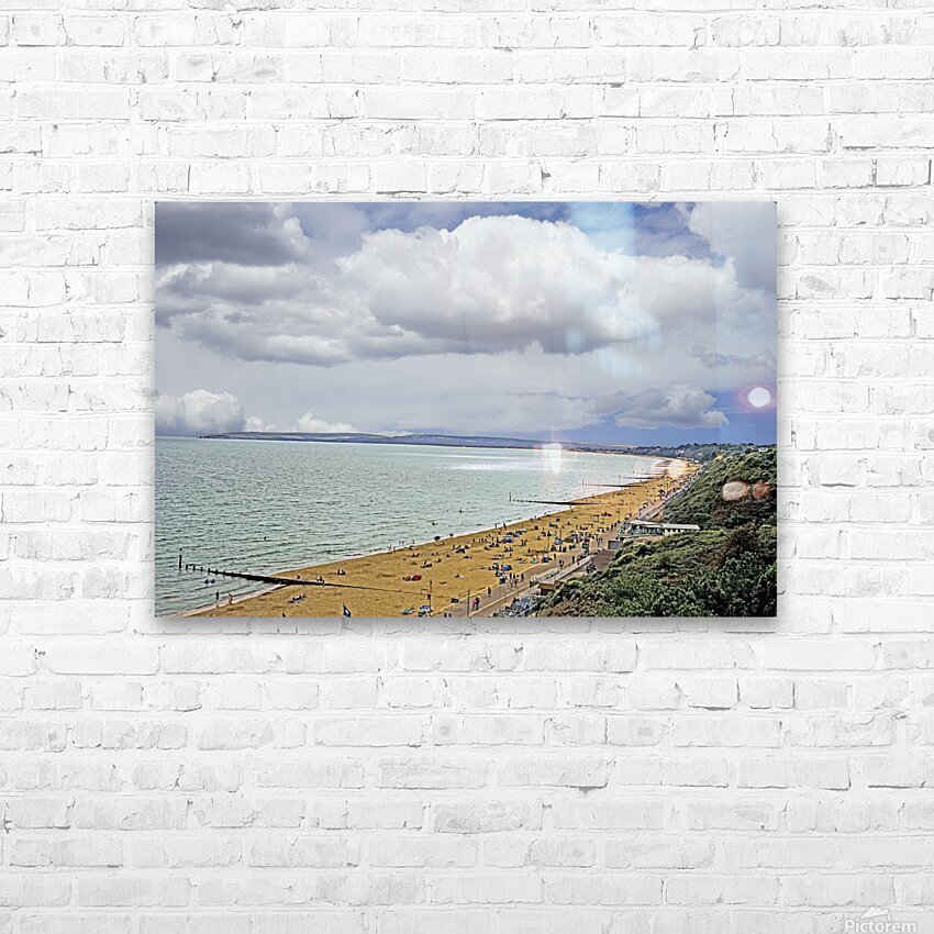 At the Beach in Southern England HD Sublimation Metal print with Decorating Float Frame (BOX)