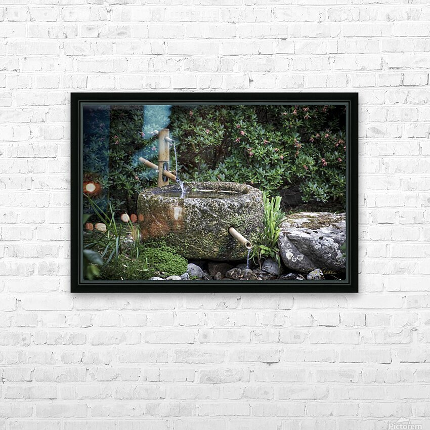 Fontaine Zen HD Sublimation Metal print with Decorating Float Frame (BOX)