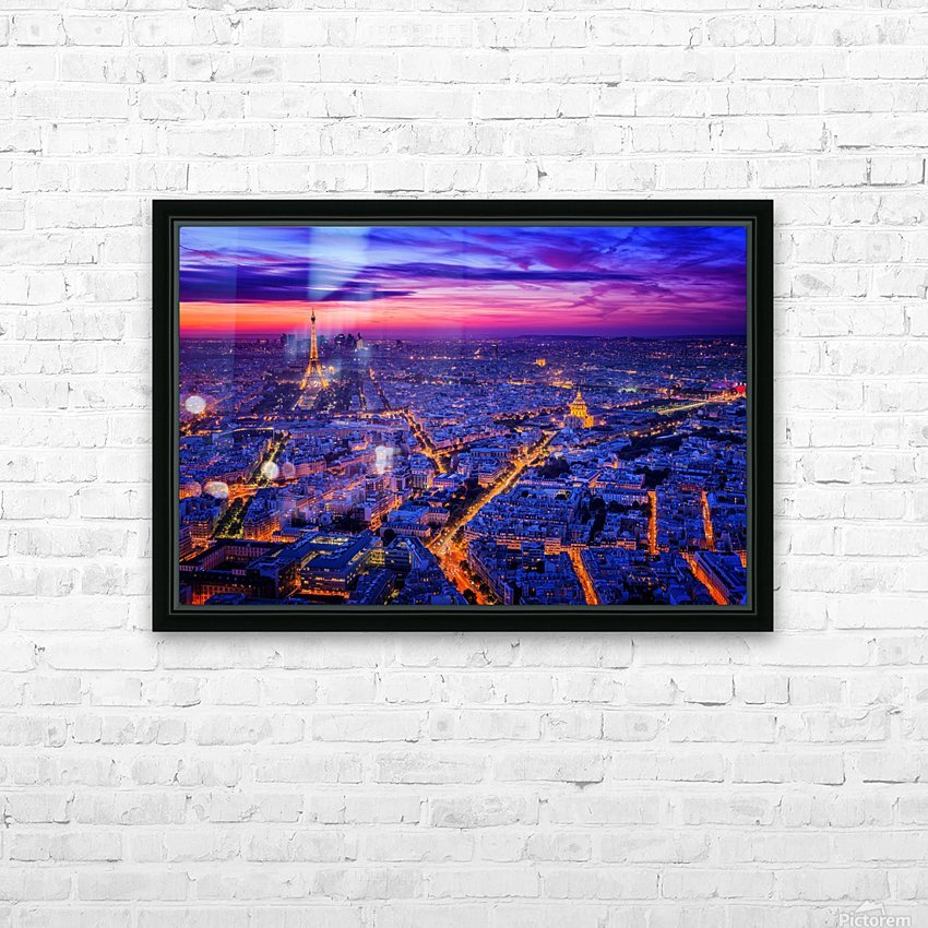 Paris I HD Sublimation Metal print with Decorating Float Frame (BOX)