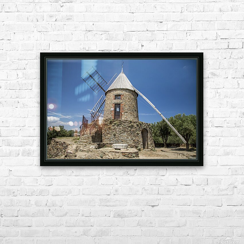 Moulin Collioure  HD Sublimation Metal print with Decorating Float Frame (BOX)