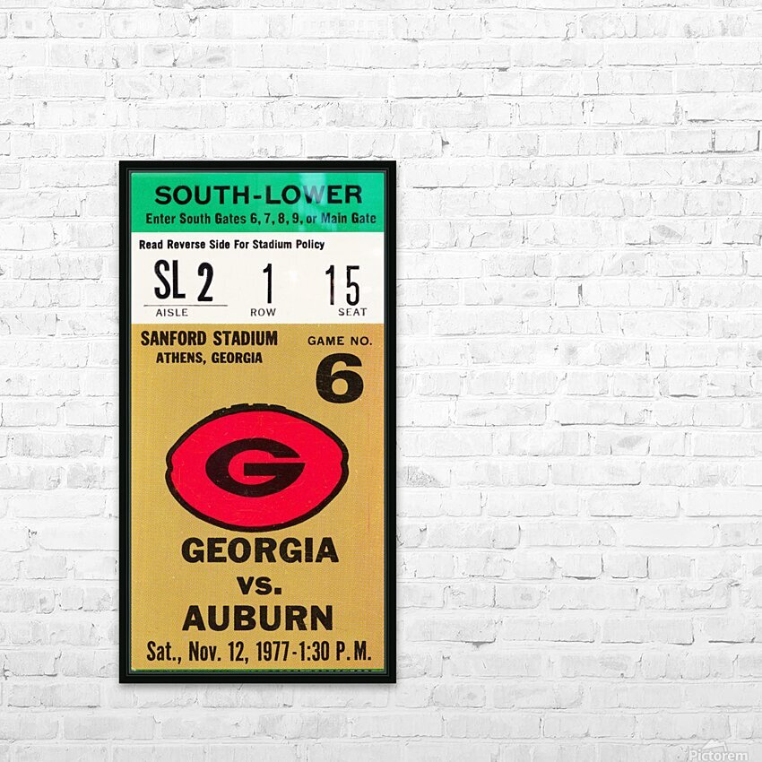 1977 Georgia vs. Auburn HD Sublimation Metal print with Decorating Float Frame (BOX)
