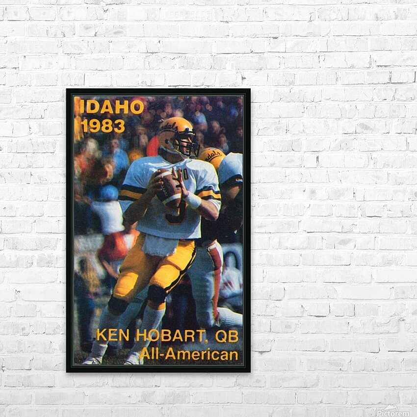 1983 Idaho Vandals Football Poster HD Sublimation Metal print with Decorating Float Frame (BOX)
