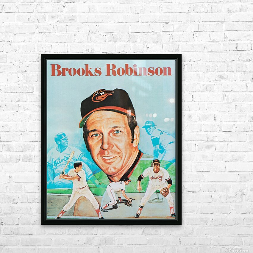 1974 Brooks Robinson Poster HD Sublimation Metal print with Decorating Float Frame (BOX)