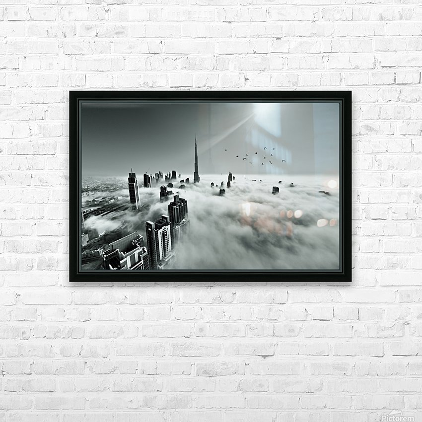 Up up and Above HD Sublimation Metal print with Decorating Float Frame (BOX)