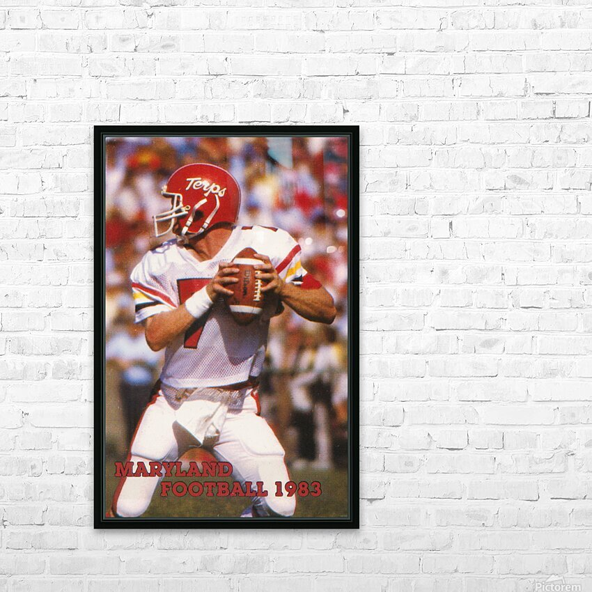 1983 Maryland Football Boomer Esiason HD Sublimation Metal print with Decorating Float Frame (BOX)