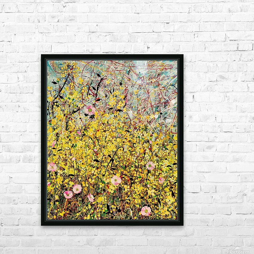 Symphony in Yellow Panel 1 HD Sublimation Metal print with Decorating Float Frame (BOX)