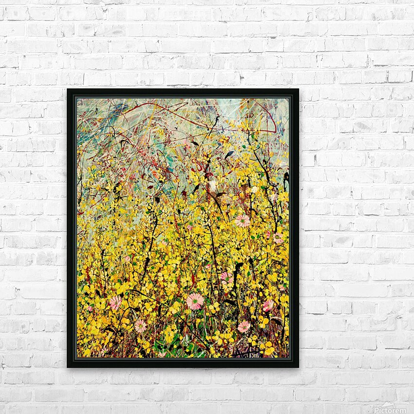 Symphony in Yellow Panel 2 HD Sublimation Metal print with Decorating Float Frame (BOX)