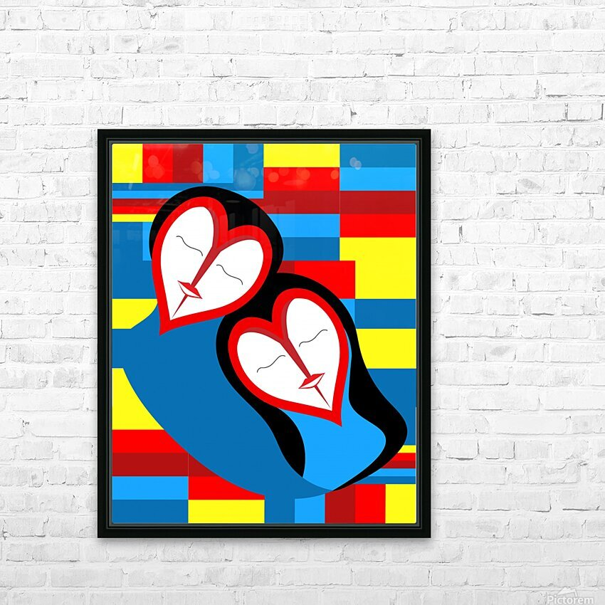 Hearts in Love HD Sublimation Metal print with Decorating Float Frame (BOX)