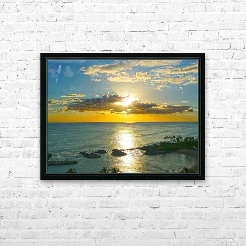 Island Dreamin HD Sublimation Metal print with Decorating Float Frame (BOX)