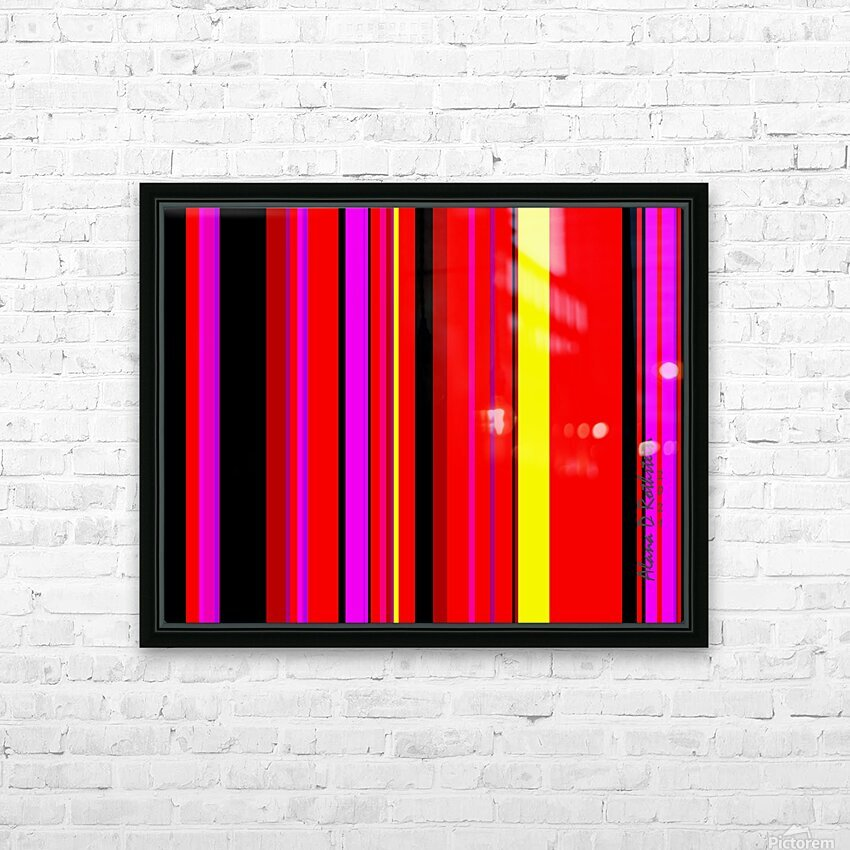Color Bars 1 HD Sublimation Metal print with Decorating Float Frame (BOX)