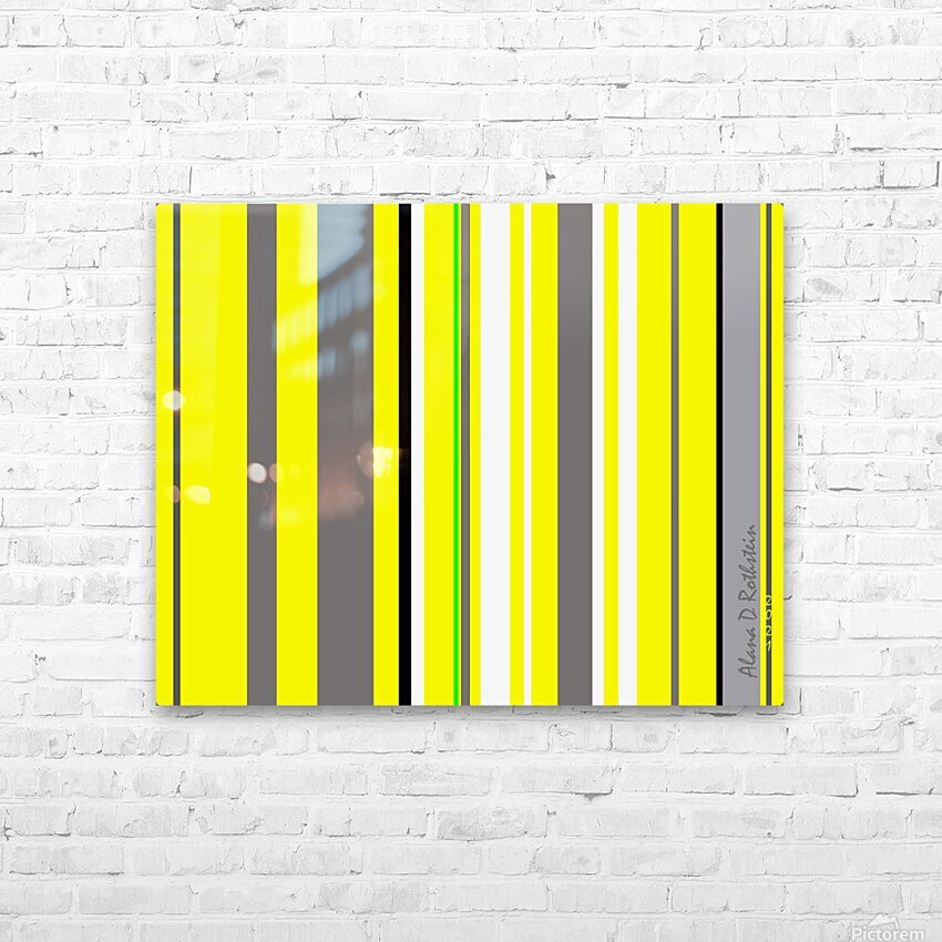 Color Bars 3 HD Sublimation Metal print with Decorating Float Frame (BOX)