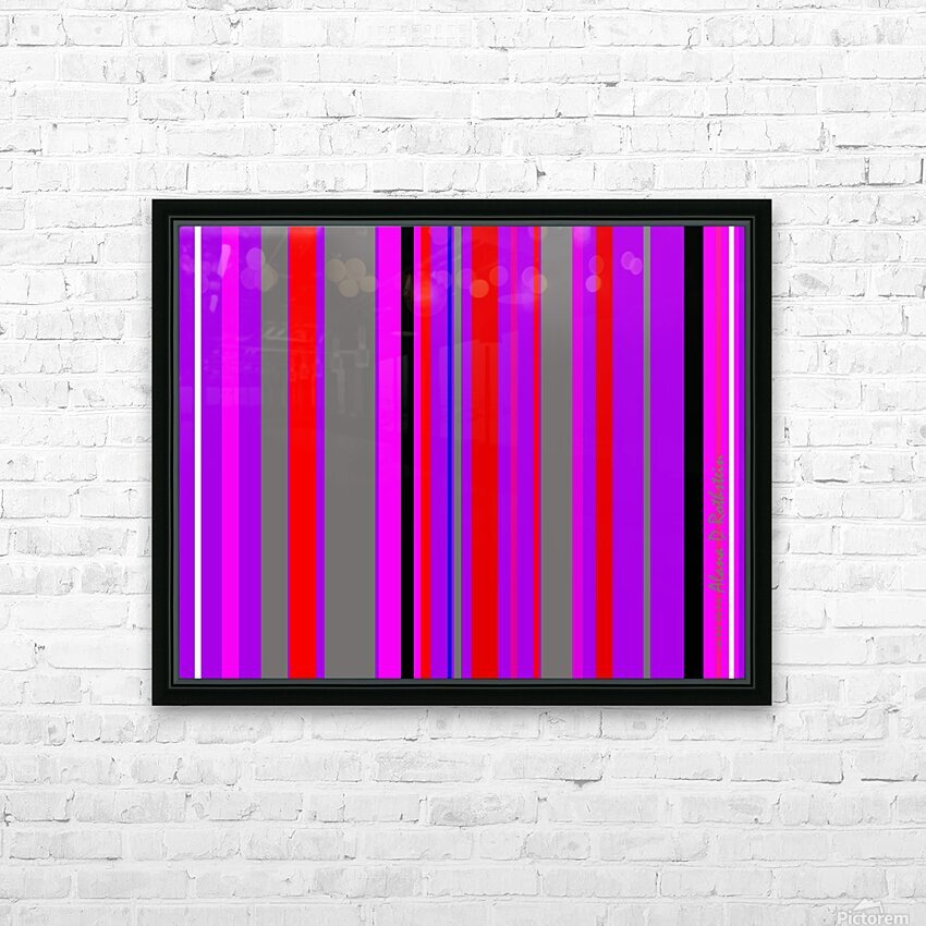 Color Bars 4 HD Sublimation Metal print with Decorating Float Frame (BOX)