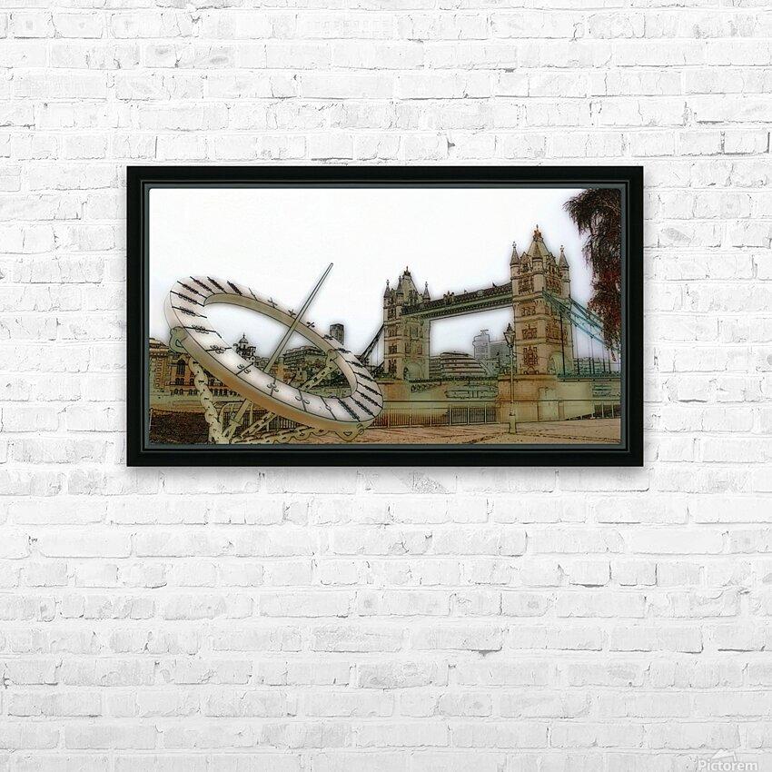 London fine art  - Tower bridge HD sublimation métal imprimé avec décoration flotteur cadre (boîte)