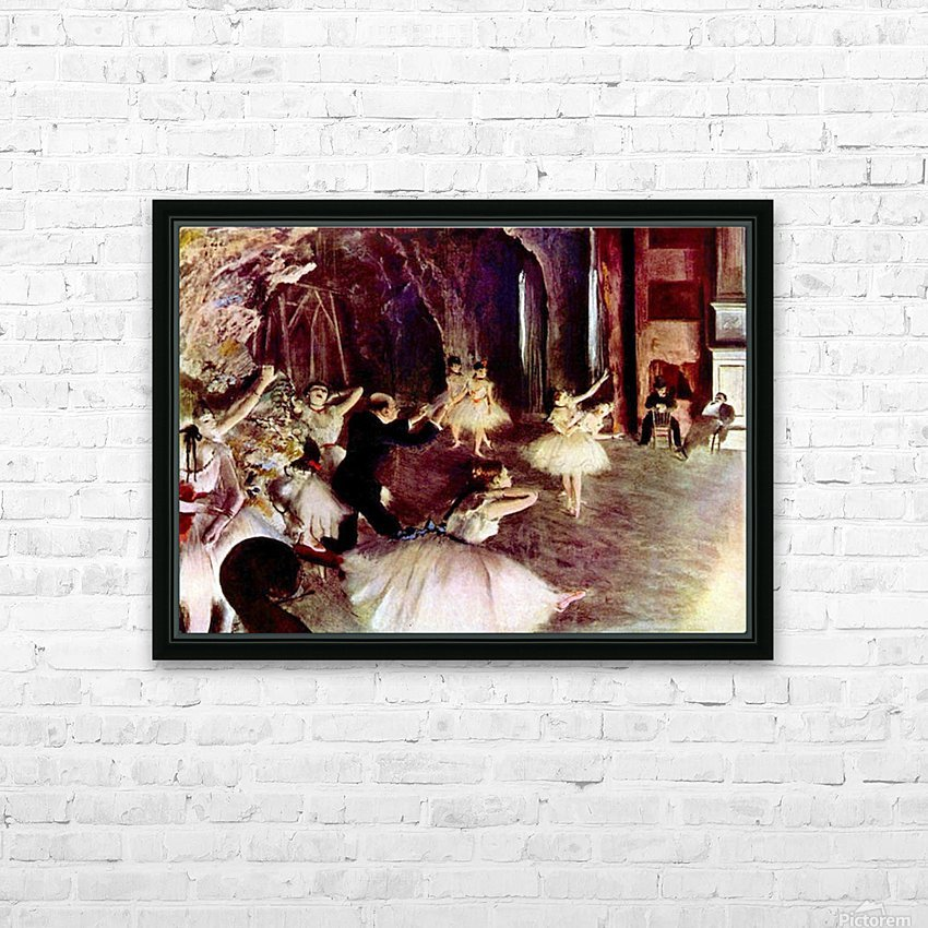 Stage trial by Degas HD Sublimation Metal print with Decorating Float Frame (BOX)