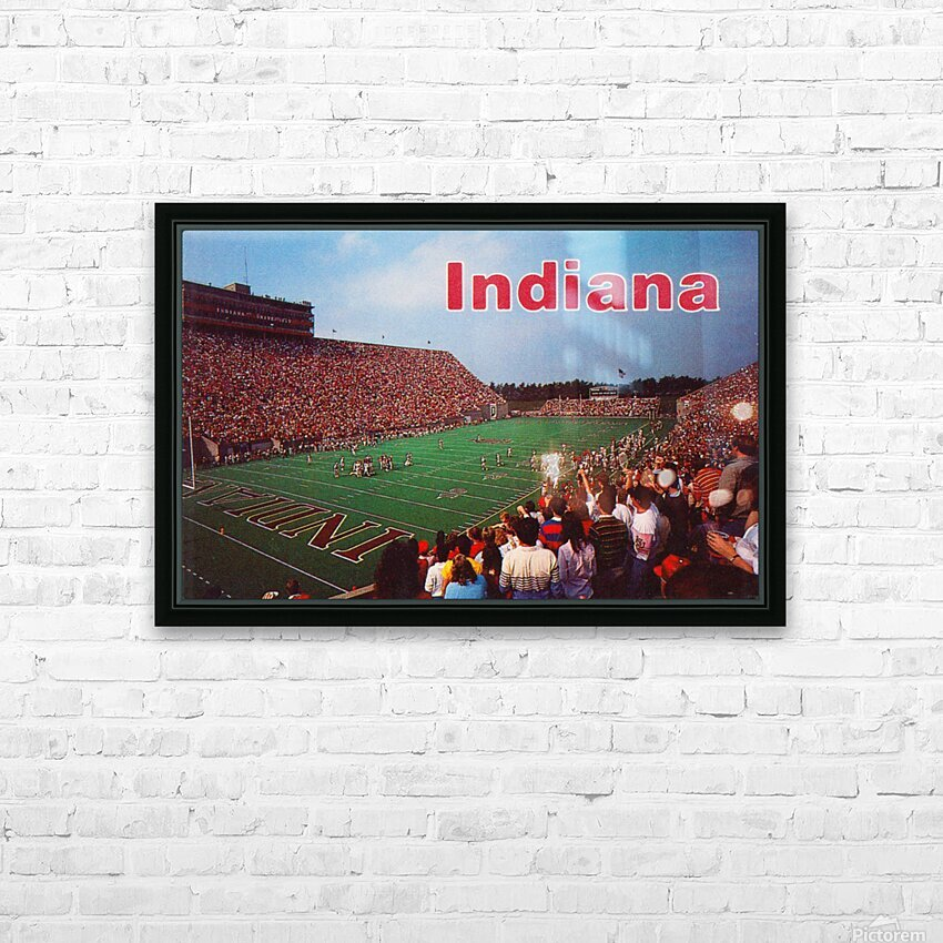 1986 Indiana Football Memorial Stadium HD Sublimation Metal print with Decorating Float Frame (BOX)