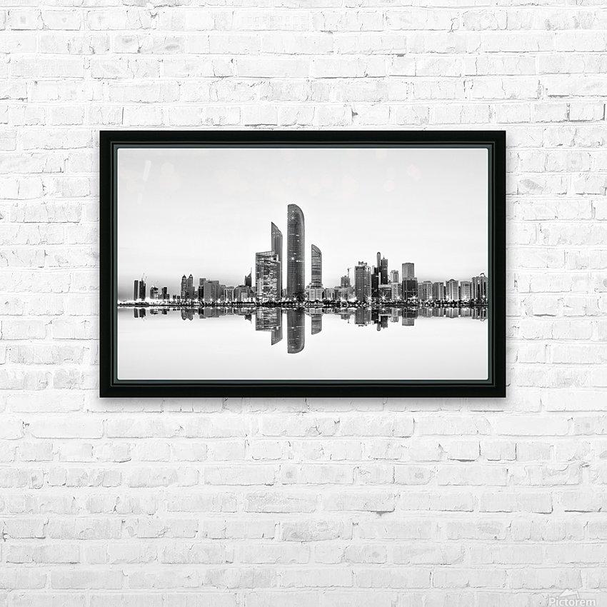 Abu Dhabi Urban Reflection HD Sublimation Metal print with Decorating Float Frame (BOX)