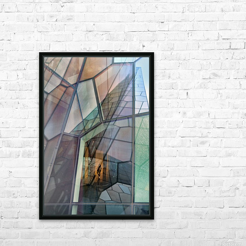 Colour Mosaic HD Sublimation Metal print with Decorating Float Frame (BOX)
