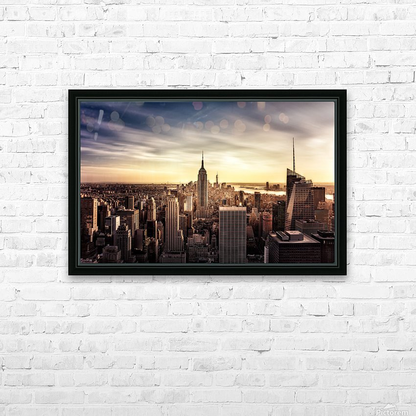 Long Sunset by Javier de la HD Sublimation Metal print with Decorating Float Frame (BOX)