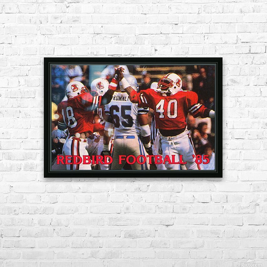 1985 Illinois State Redbirds Football Poster HD Sublimation Metal print with Decorating Float Frame (BOX)