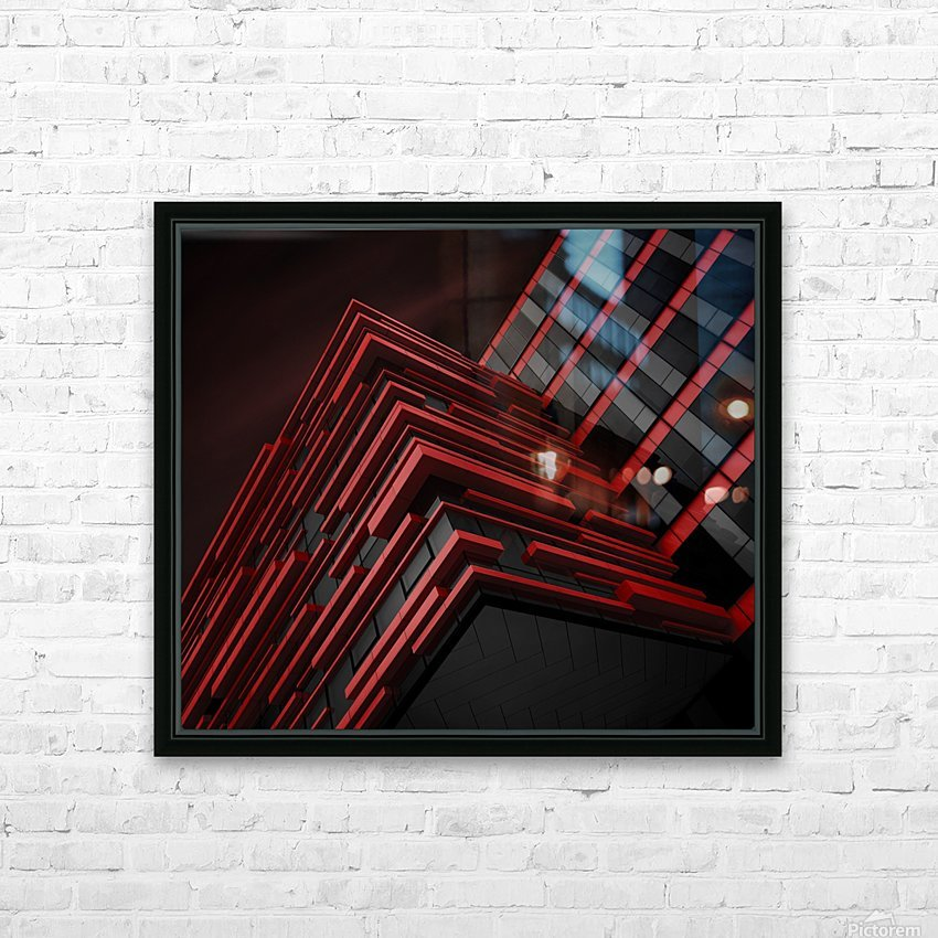 Blood Stream HD Sublimation Metal print with Decorating Float Frame (BOX)