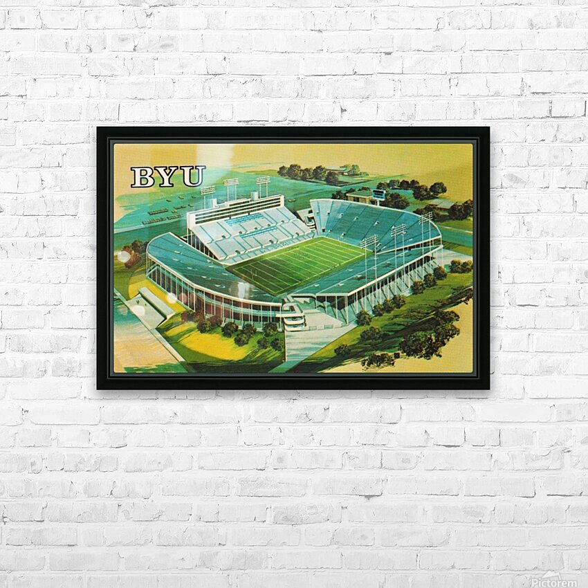 1982 BYU Cougar Stadium Art HD Sublimation Metal print with Decorating Float Frame (BOX)