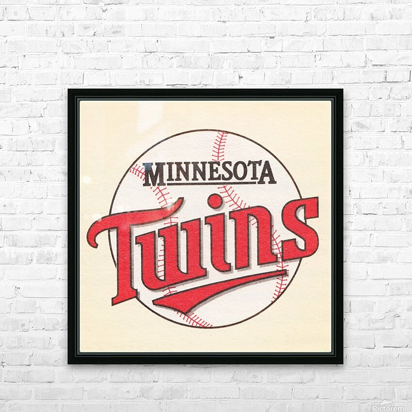 1988 Minnesota Twins Art HD Sublimation Metal print with Decorating Float Frame (BOX)