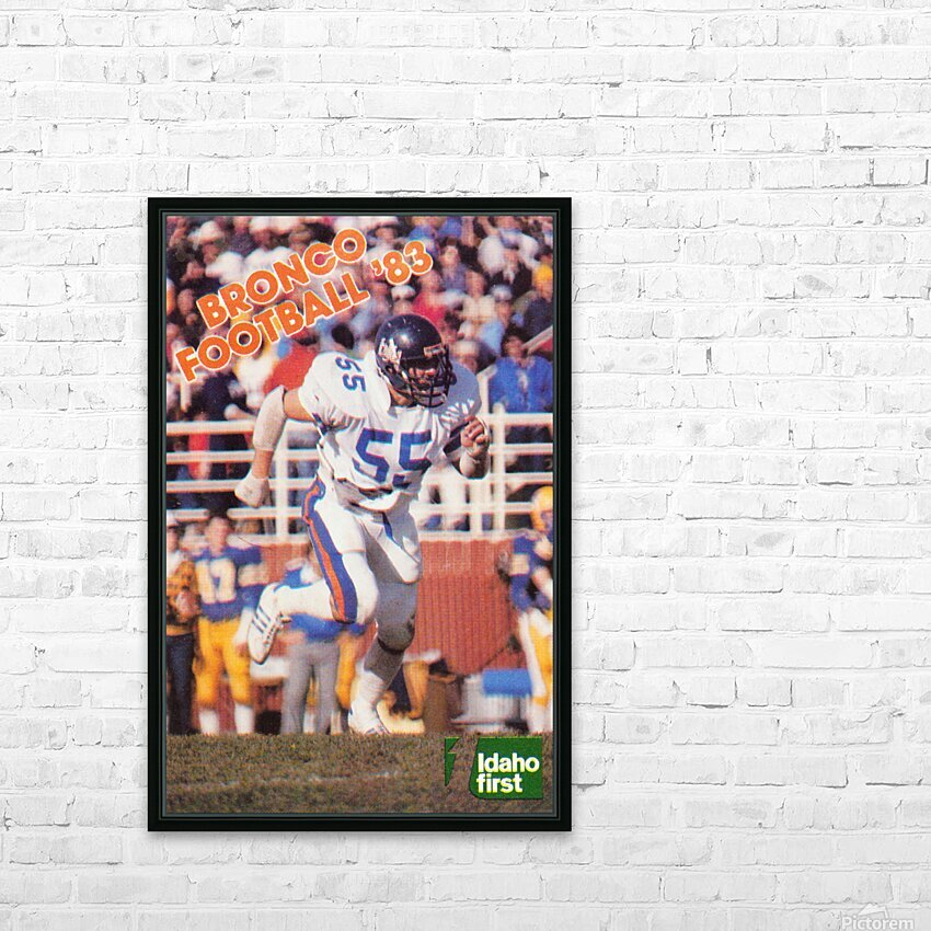1983 Boise State Broncos Carl Keever Football Poster HD Sublimation Metal print with Decorating Float Frame (BOX)