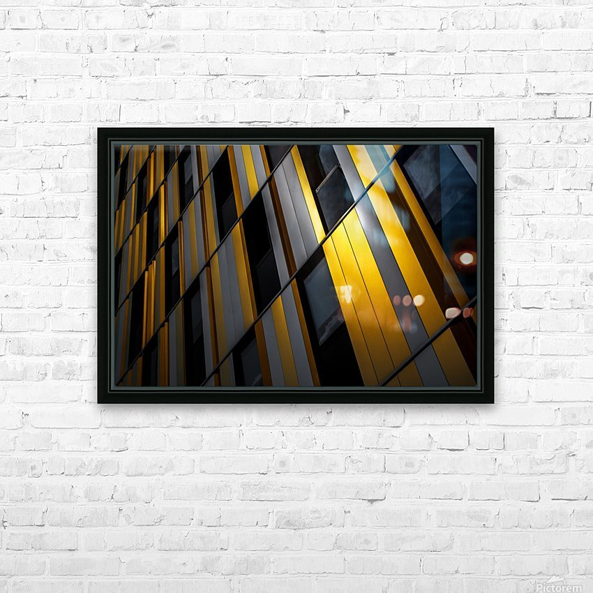 Yellow wall HD Sublimation Metal print with Decorating Float Frame (BOX)