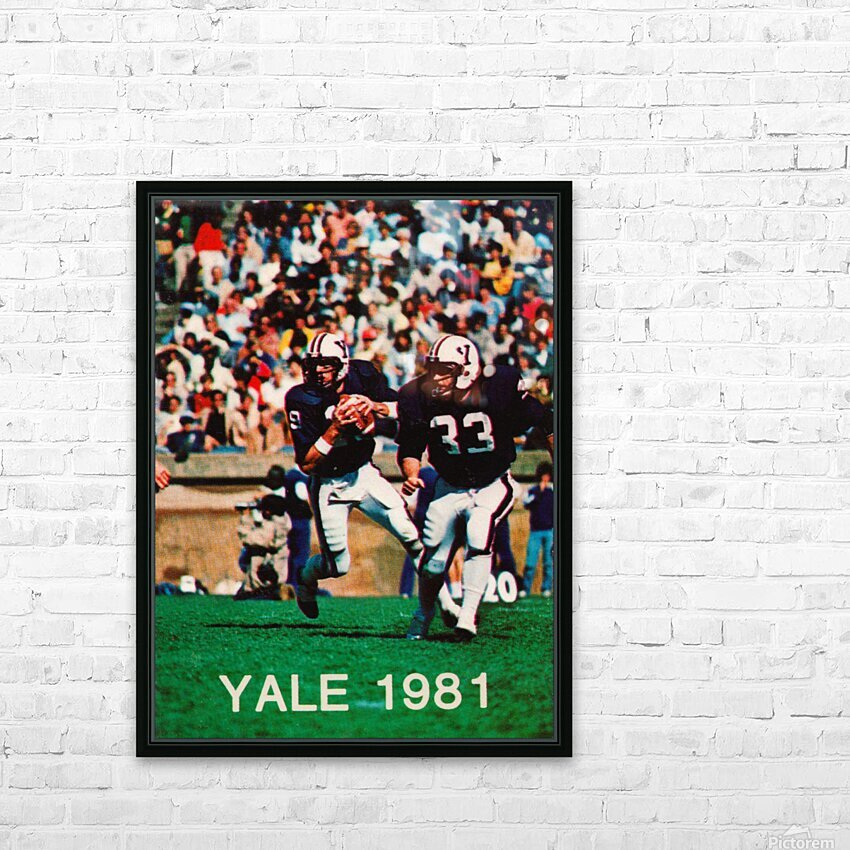1981 Yale Bulldogs Football Poster HD Sublimation Metal print with Decorating Float Frame (BOX)