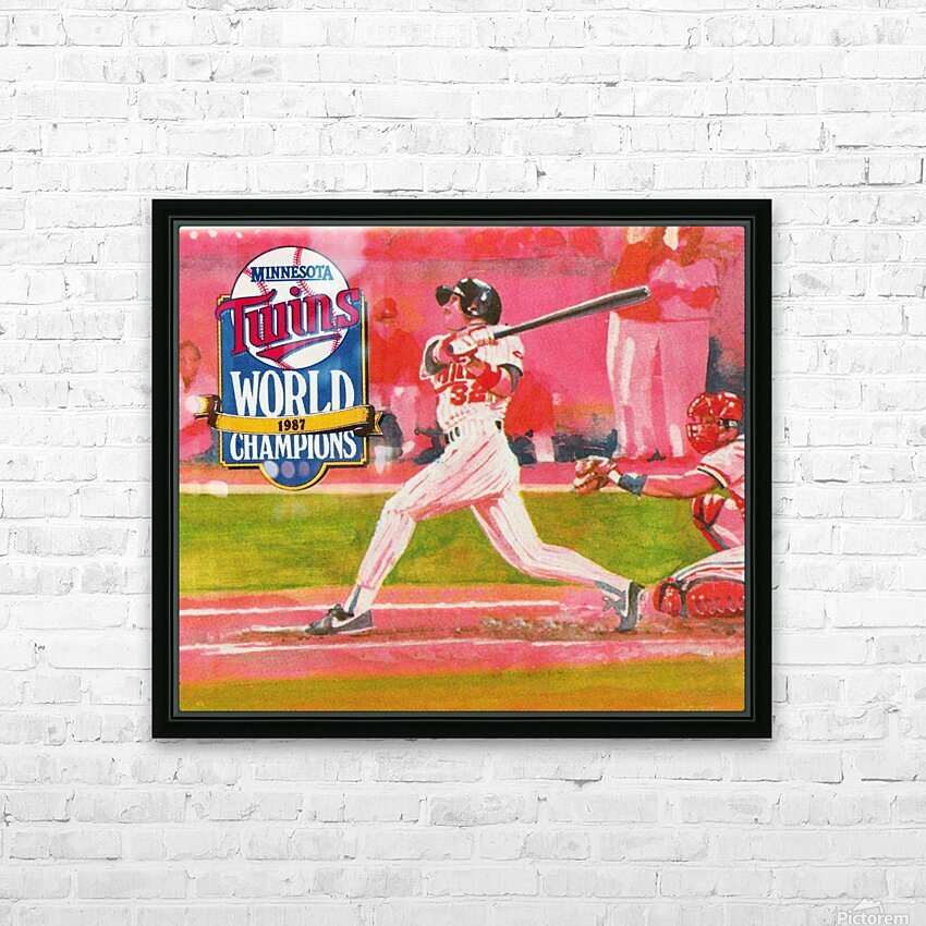 1988 Minnesota Twins Baseball Art HD Sublimation Metal print with Decorating Float Frame (BOX)