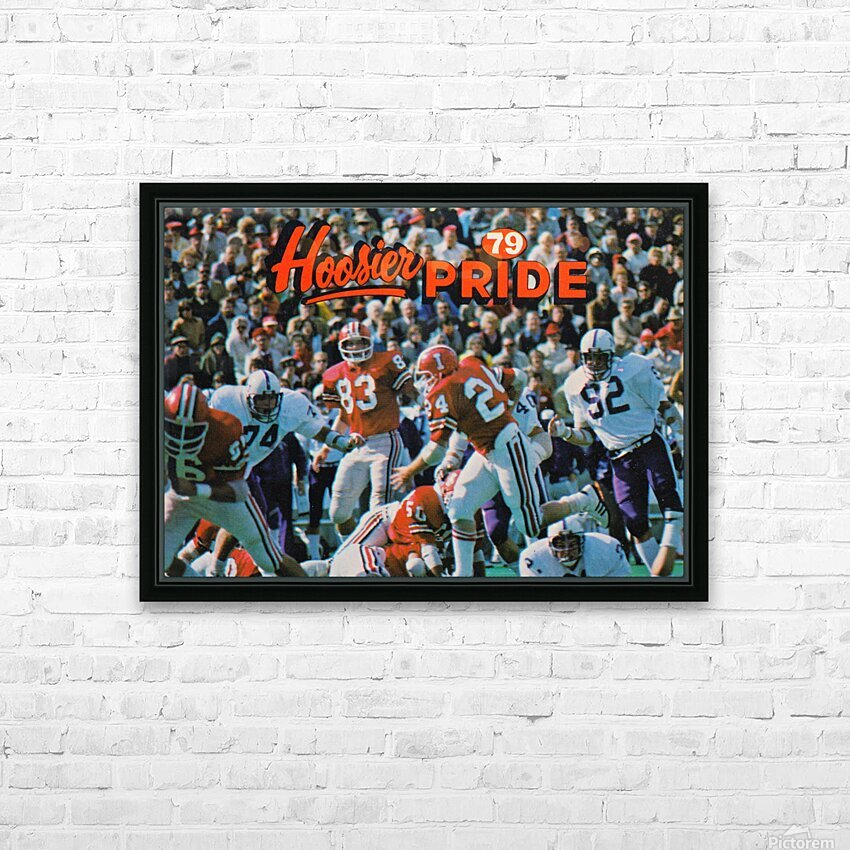 1979 Indiana Hoosiers Football Art HD Sublimation Metal print with Decorating Float Frame (BOX)