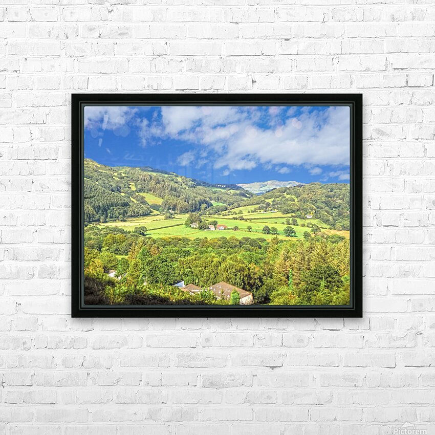Beautiful Wales HD Sublimation Metal print with Decorating Float Frame (BOX)
