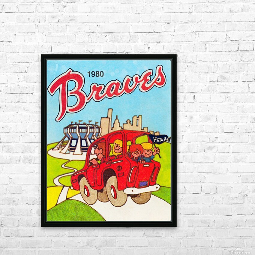 1980 Atlanta Braves Poster HD Sublimation Metal print with Decorating Float Frame (BOX)