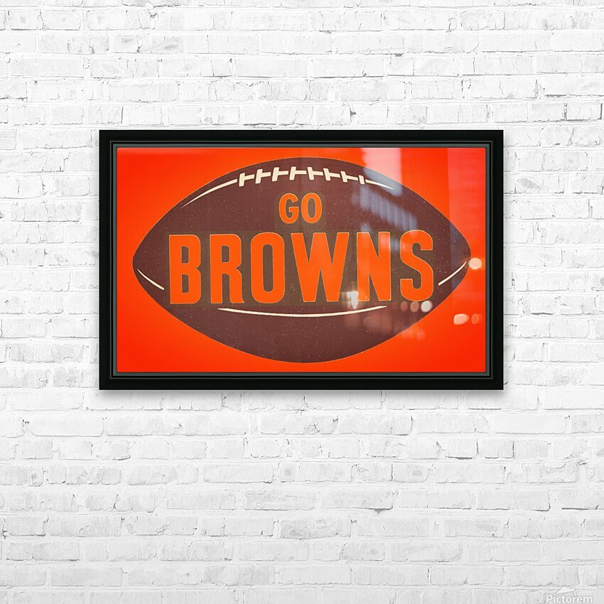 Vintage Cleveland Browns Football Art HD Sublimation Metal print with Decorating Float Frame (BOX)