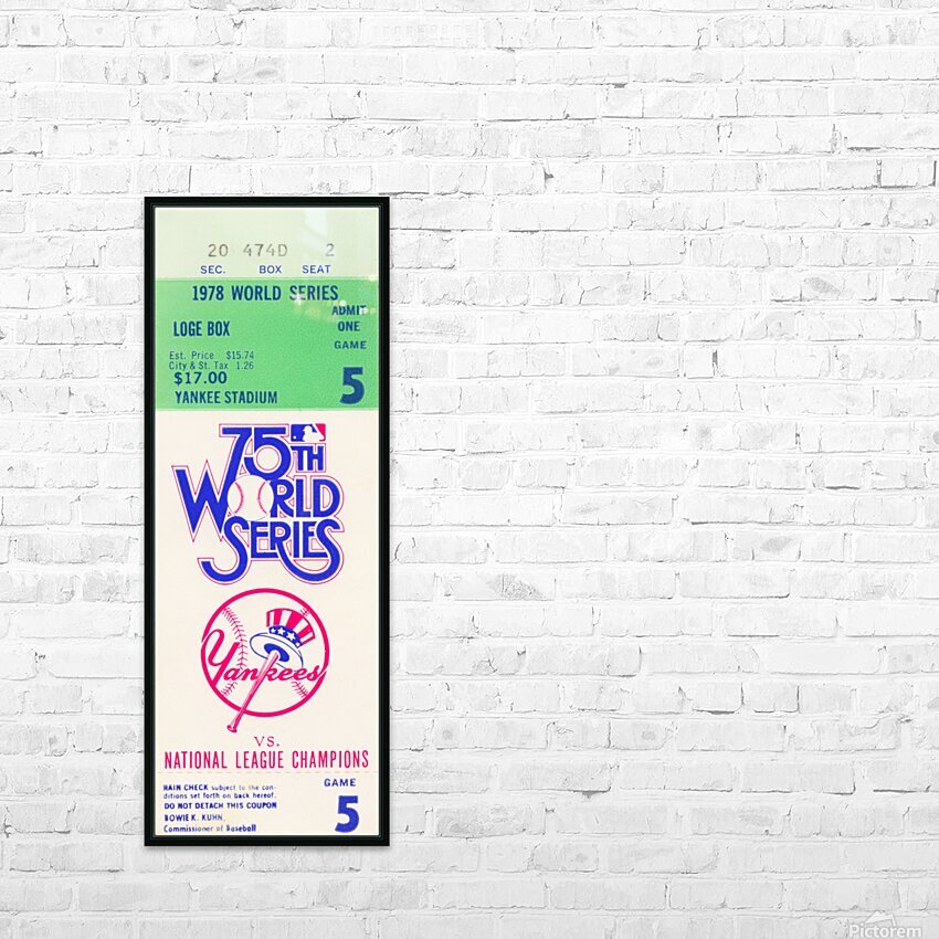 1978 World Series Ticket Art HD Sublimation Metal print with Decorating Float Frame (BOX)