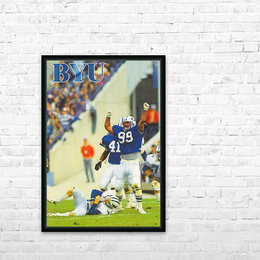 1986 BYU Cougars Football Poster HD Sublimation Metal print with Decorating Float Frame (BOX)