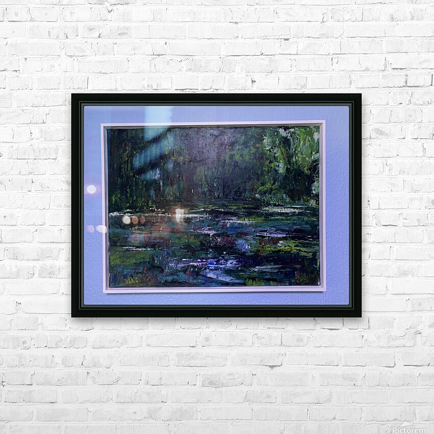 A swamp Concert  Acryl on Canvas 80x60  FRAMED  HD Sublimation Metal print with Decorating Float Frame (BOX)