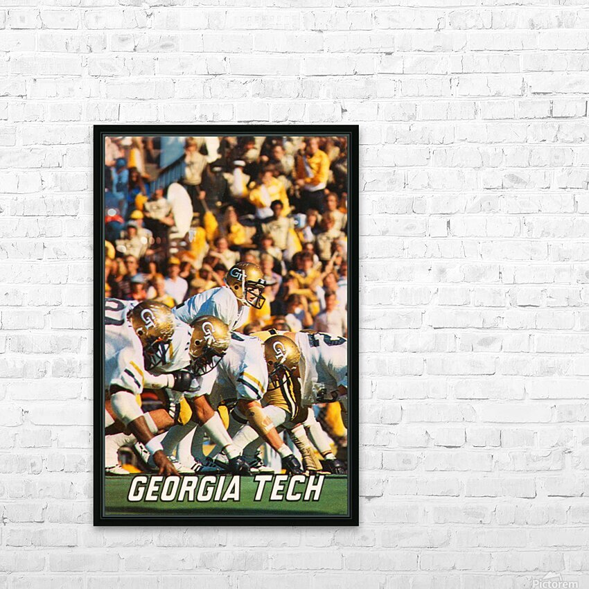 1979 Georgia Tech Football Art HD Sublimation Metal print with Decorating Float Frame (BOX)