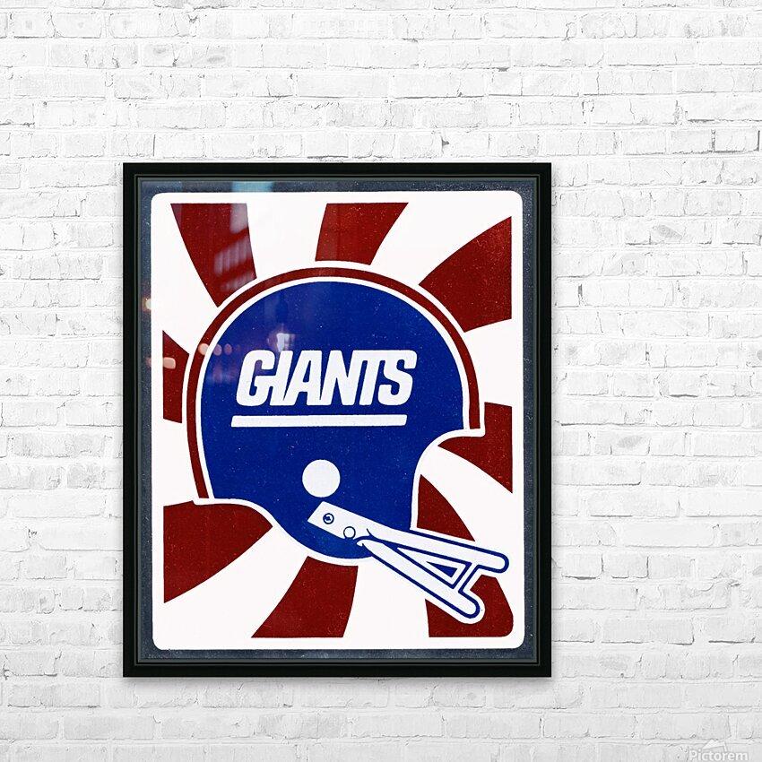 Retro New York Giants Helmet Art HD Sublimation Metal print with Decorating Float Frame (BOX)