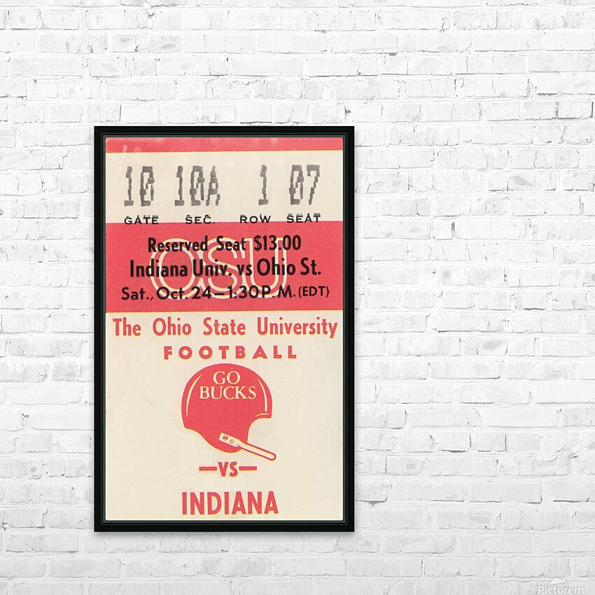 1981 Ohio State vs. Indiana HD Sublimation Metal print with Decorating Float Frame (BOX)