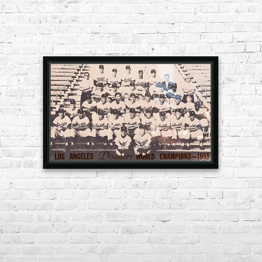 1959 Los Angeles Dodgers Team Photo HD Sublimation Metal print with Decorating Float Frame (BOX)