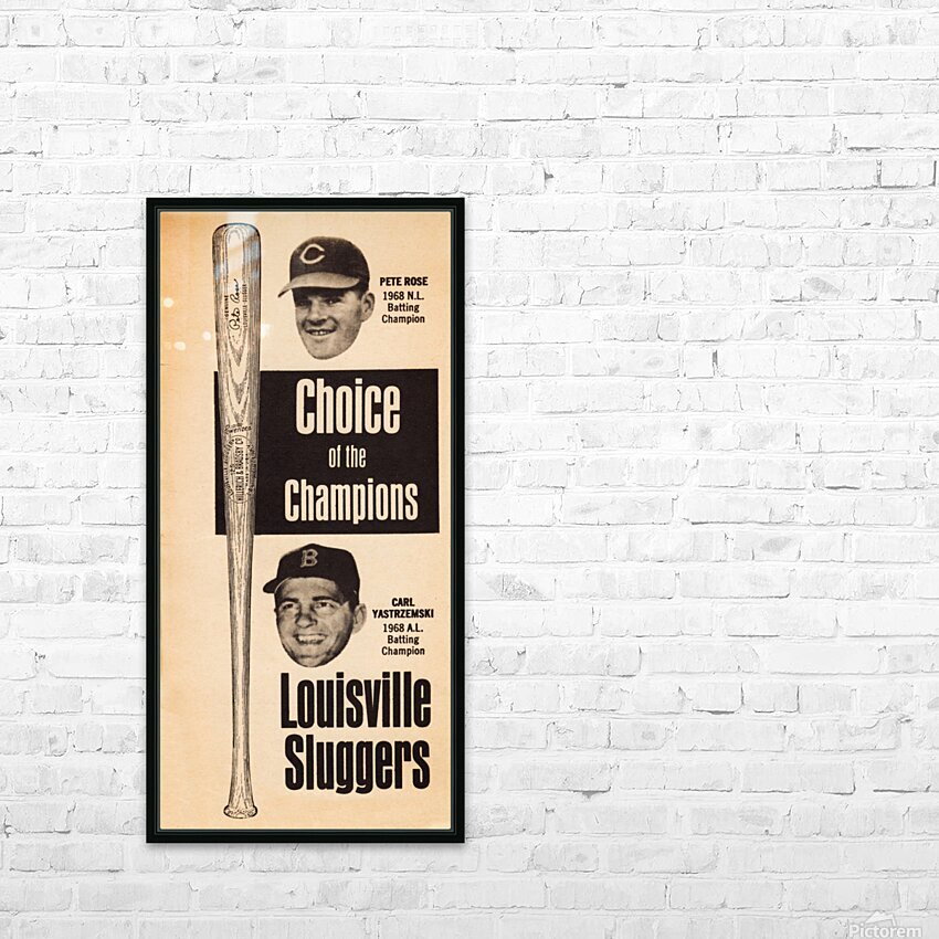 1969 Louisville Slugger Pete Rose Ad HD Sublimation Metal print with Decorating Float Frame (BOX)