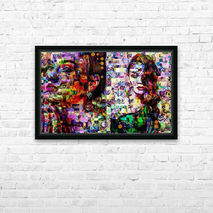 Liz fashion  HD Sublimation Metal print with Decorating Float Frame (BOX)